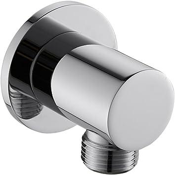Bathroom Wall Outlet Elbow Hose Connector 1//2 Shower Head Sprayer Holder Bracket
