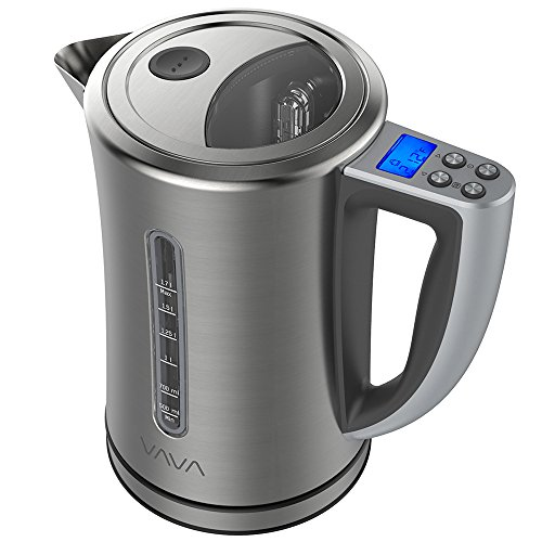 Lcd Controls - VAVA Electric Kettle Temperature Control Water Kettle Stainless Steel Cordless Tea Kettle with LCD Display (BPA-Free Build, Keep Warm Function, Strix Control, FDA Certified), 1.7-Liter