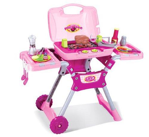 Set de barbacoa de juguete para niños - Con sonidos y luces - Rosa Inside Out Toys