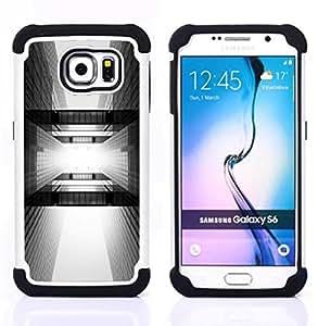 For Samsung Galaxy S6 G9200 - architecture black white city Dual Layer caso de Shell HUELGA Impacto pata de cabra con im??genes gr??ficas Steam - Funny Shop -