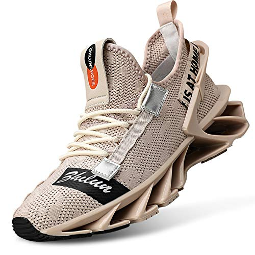 L-RUN Mens Running Shoes Blade Mesh Running Sneakers Athletic Walking Shoes