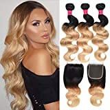 Best Hair Weave Blonde 3 Bundles - Wome Hair Brazilian Hair 3 Bundles Body Wave Review