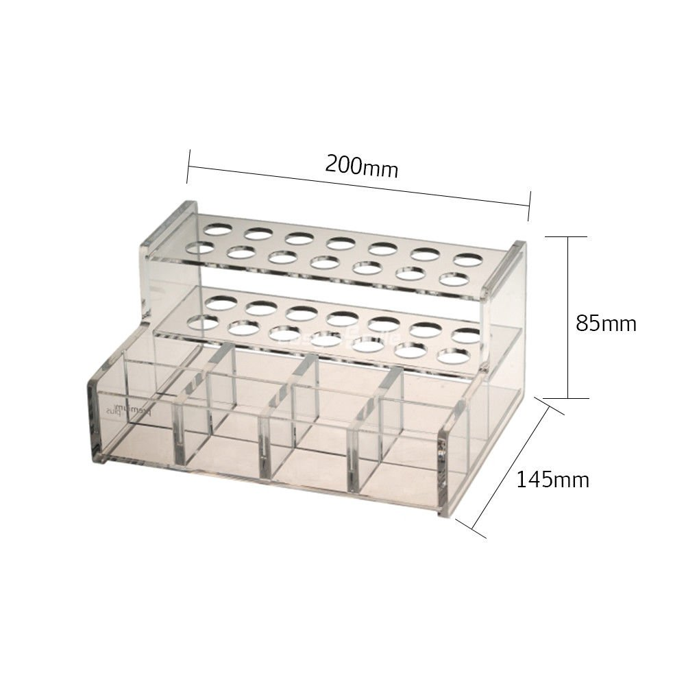 Easyinsmile Multi-Function Acrylic Organizer Case Dental Resin Composite Dispenser Syringe Stand Holder Organizer with 2 Size 2pcs/pack (L)