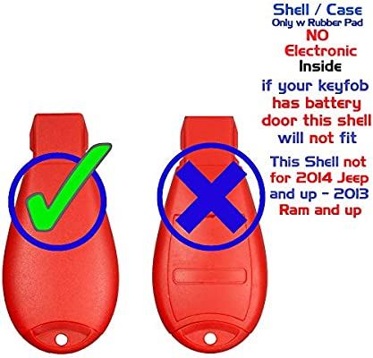 KeylessCanada /© 2 New Keyless Entry 4 Buttons Remote Start Car Key Fob M3N5WY783X IYZ-C01C For Chrysler 300 Challenger Charger Durango Jeep Grand Cherokee