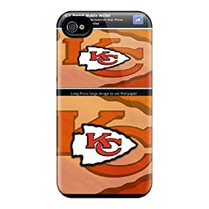 Durable Cell-phone Hard Cover For Iphone 4/4s (bOd16591ToQk) Unique Design Colorful Kansas City Chiefs Series
