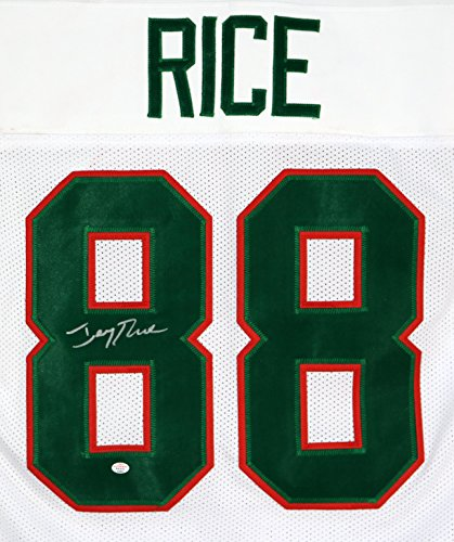 (Jerry Rice Mississippi Valley State Delta Devils Signed Autographed White #88 Custom Jersey)