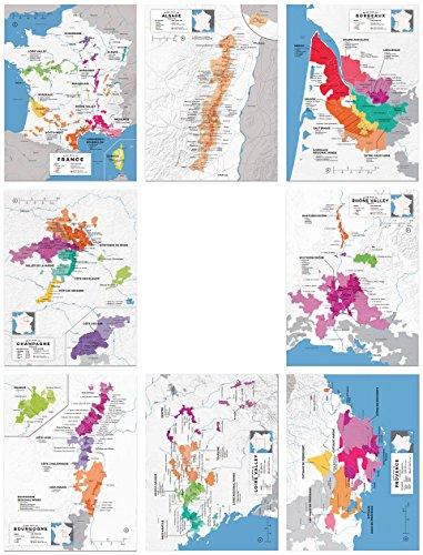 Wine Folly France Regional Map Poster Print Set 8-pc (12
