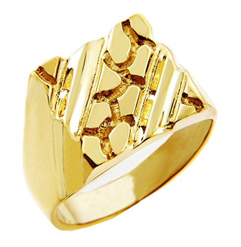Men's 14k Gold Nugget Ring The Apex (11.75)