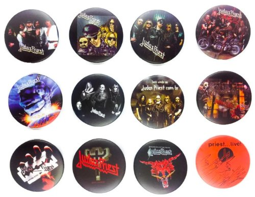 Judas Priest Awesome Quality Lot 12 New Pins Pinback Buttons Badge 1.25 Inch