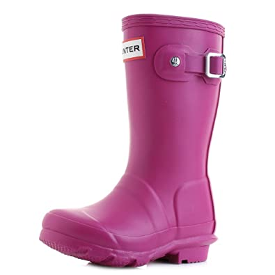 hunter Little Kids Original Dark Ion Pink Wellies Wellington Boots Size 11 5b06aa5c9