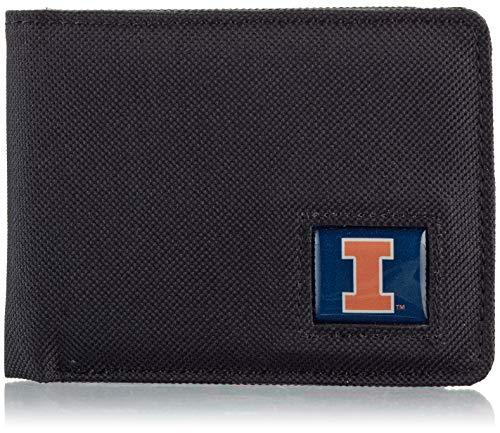 - NCAA Illinois Illini Men's Nylon RFiD Safe Travel Wallet