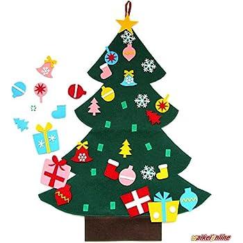 waikei wall hanging 3ft felt christmas tree set with ornaments xmas decoration - Ornaments For Christmas Tree