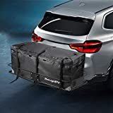 BougeRV Waterproof Cargo Carrier Bag, Hitch Mount Cargo Carrier Bag 48'' x 21.7'' x 20.1'' Car Carrier Storage Box Travel for Car Truck SUV Vans Roof Top Rear