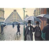 Posters: Gustave Caillebotte Poster Art Print - Paris Street, Rainy Day, 1877 (71 x 48 inches)