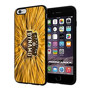 "Soccer MLS HOUSTON DYNAMO SOCCER CLUB FOOTBALL FC,Cool iPhone 4/4s (6+ , 5.5"") Smartphone Case Cover Collector iphone TPU Rubber Case Black"