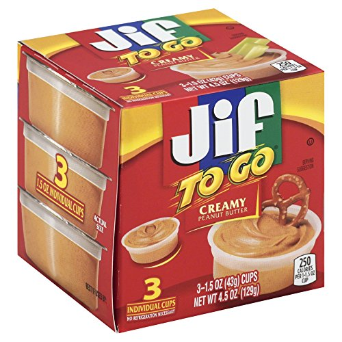 Jif To Go Creamy Peanut Butter 45 Ounce Pack of 12
