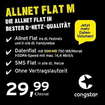 Congstar Allnet Flat M Monatlich Kündbar In Amazonde Elektronik