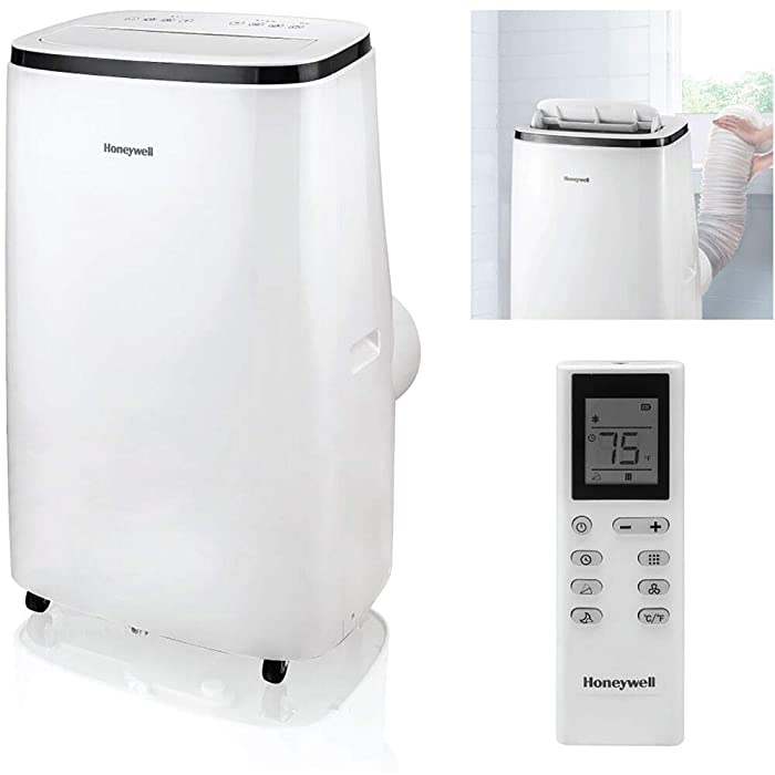 Honeywell HJ5CESWK0 15,000 BTU Portable Air Conditioner with Dehumidifier & Fan, White/Black