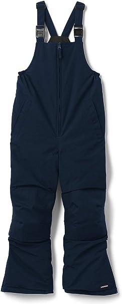 girls boys kids squall ski snowboard bib pants lands end black size 4