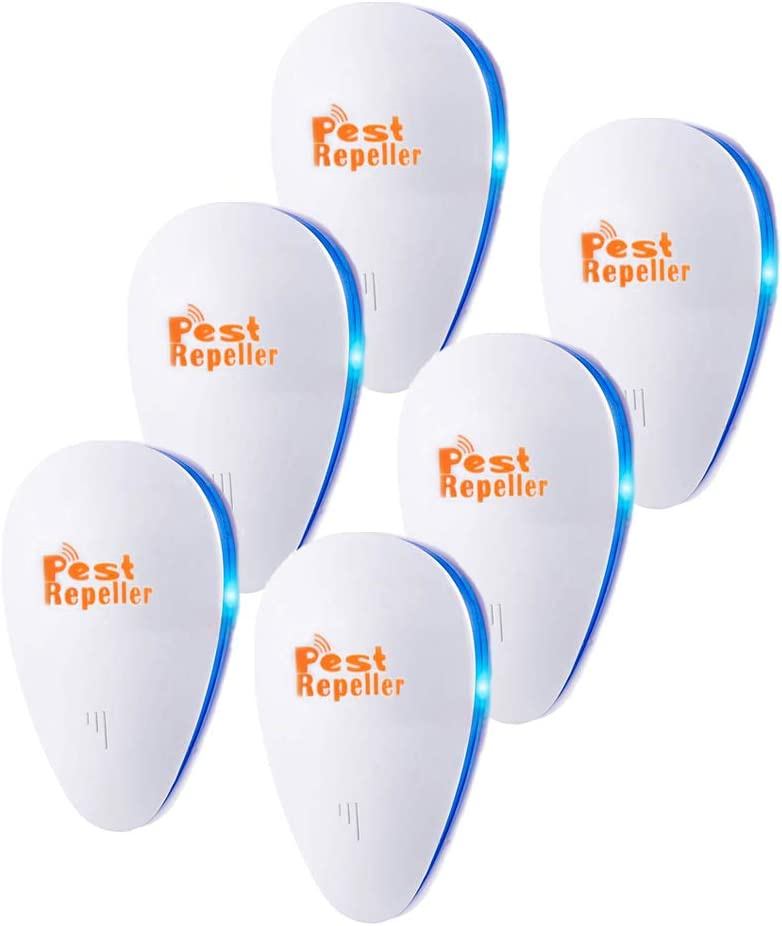 Ultrasonic Pest Repeller 6 Pack, 2020 Upgrade Plug in Pest Control,Best Indoor Repellent for Children and Pets Safe, Electronic Pest Control, Mosquito, Mouse, Cockroaches,Rats,Bug, Spider, Ant