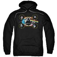 Hoodie: Pink Floyd- Distressed Dark Side Band Stamp Pullover Hoodie Size XXL