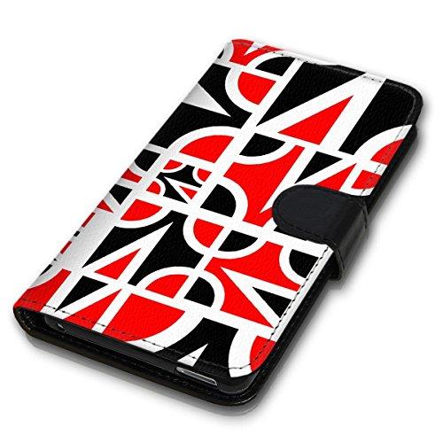 Wallet Book Style Flip Handy Tasche Case Schutz Hülle Schale Motiv Etui für Apple iPhone 6 Plus / 6S Plus - Design Flip MVD114