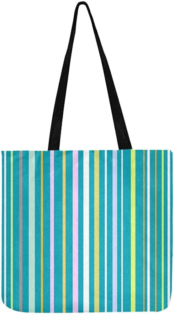 Abstract Teal Stripes Messenger Bag Personalized