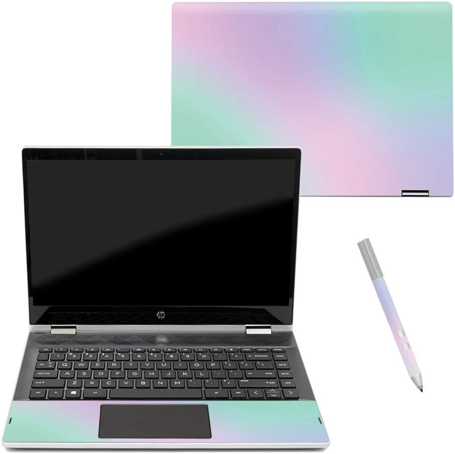 """MightySkins Skin Compatible with HP Pavilion x360 14"""" (2018) - Cotton Candy 