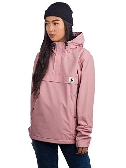 34dc08fe26 Carhartt GIACCA DONNA W NIMBUS PULLOVER SOFT ROSE XS: Amazon.co.uk ...