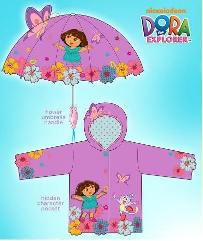 Explorer Umbrella (Kidorable Dora The Explorer Raincoat WITH Umbrella)