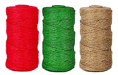 Set of 3 Christmas Jute Twine Rolls