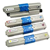4 OKI Compatible C310 / C330 cartouches de toner laser. (1x Noir - 44469803, 1x Cyan - 44469706, 1x Magenta - 44469705 & 1x Jaune - 44469704)