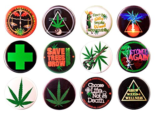 Medical Cannabis Marijuana Classic #2 Bundle w/ 12 ASSORTED pinback buttons 2.25 inch (5) (Best Medical Marijuana For Ms)