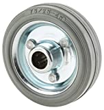 Steelex D2643 Gray Rubber Tire with Roller Bearing Hub,110-Pound Capacity, 3-Inch