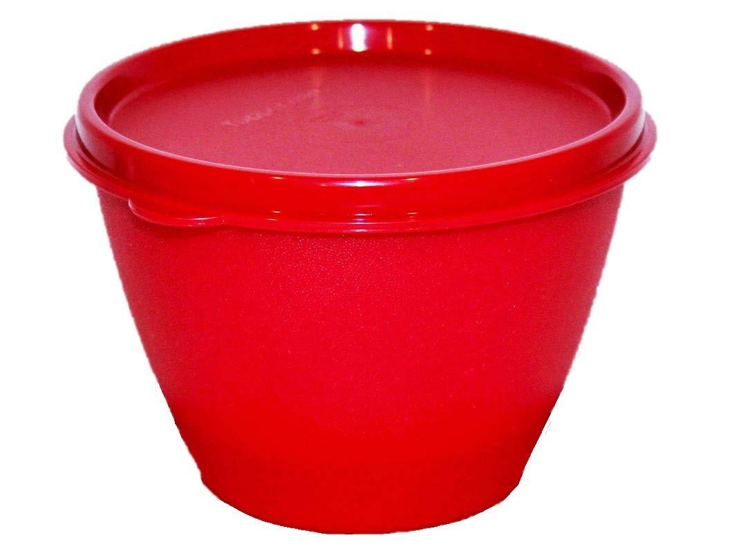 Tupperware Refrigerator Bowl 14 Ounces Red