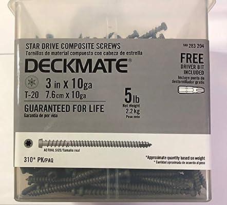 10 3-1/2 in. Star Flat-Head Wood Deck Screws (5 lb ... - Amazon.com