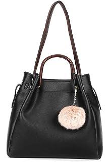 ebb00b9c95 Angkorly - Handbags   Shoulder Bags Shoppings Cross-body Bucket Tote bag  Pom Pom modern