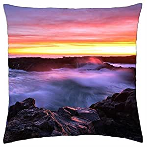 amazing sea shore sunset - Throw Pillow Cover Case (18
