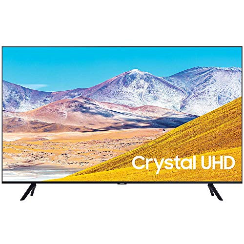 """SAMSUNG UN50TU8000 50"""" 4K Ultra HD Smart LED TV (2020 Model) Bundle with Premiere Movies Streaming 2020 + 30-70 Inch TV Wall Mount + 6-Outlet Surge Adapter + 2X 6FT 4K HDMI 2.0 Cable"""