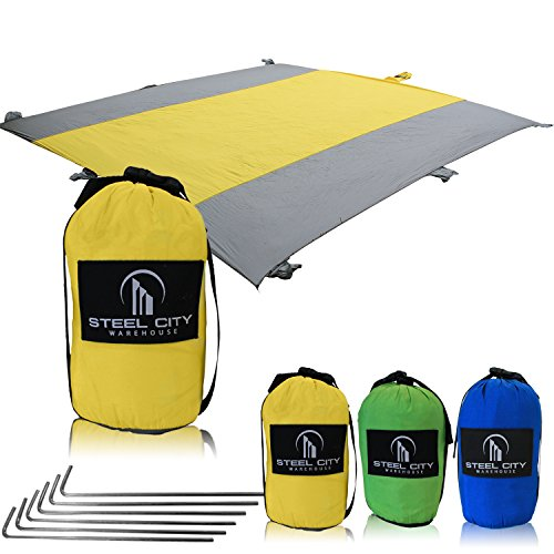 Beach Blanket XL by Steel City Warehouse Huge Sandproof Waterproof...