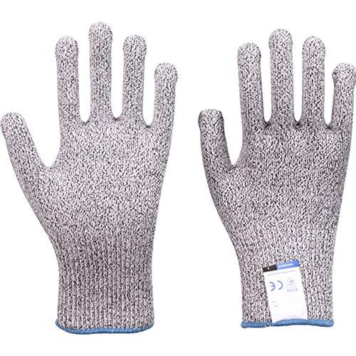 アンチカット手袋のカット耐性の手袋、超耐久性のあるシリーズ - 高性能レベル5の保護、食品グレード (Color : Gray, Size : XL)