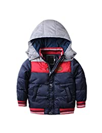 QJH Toddler Boys Classic Novelty Winter Coat T1-6