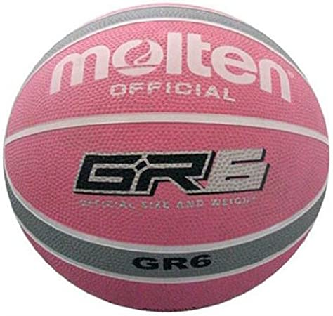 Unisex Adulto Color Rojo Talla 7 Blanco y Plateado MOLTEN Basket Ball-Pelota de Baloncesto