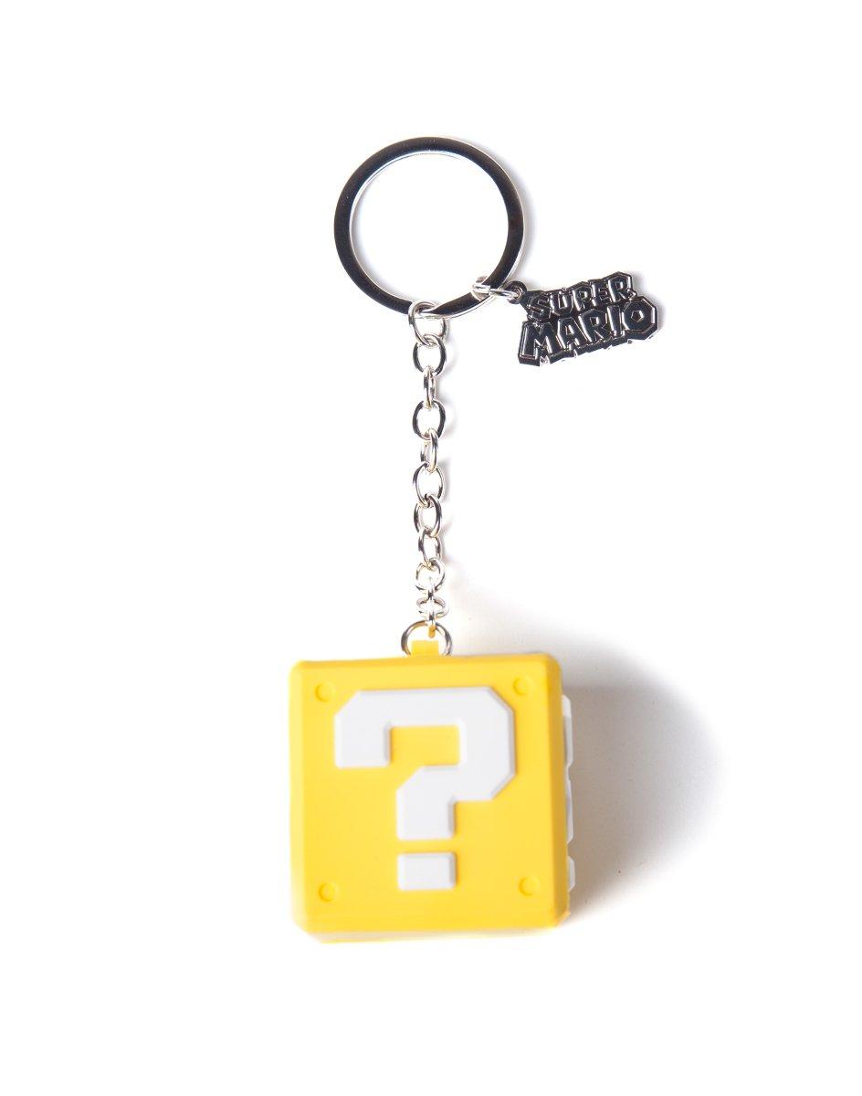 Nintendo Rubber Keychain Question Mark Box 7 cm Bioworld Portachiavi