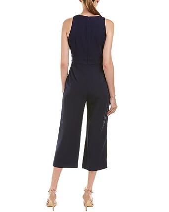 166f7c4b6fb1 Amazon.com  Tahari by ASL Women s Lasercut Jumpsuit Navy 16  Clothing