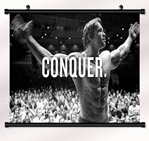Arnold Schwarzenegger poster with wall scroll