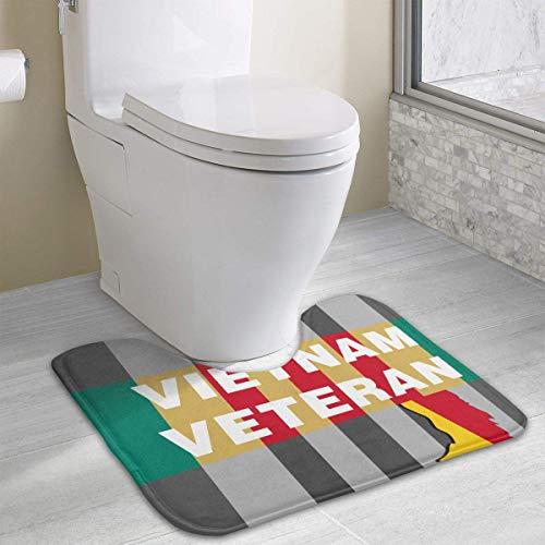 Beauregar Vietnam Veteran Cute Bath Mat Toilet Carpet Doormats Floor Rug for Bathroom Toilet 19.2″x15.7″
