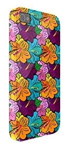 Hawaiian Flowers Multi Coloured iPhone 5 / 5S protective case (image shows iPhone 4 example)