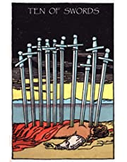Ten of Swords: Original Tarot Card, Rider Waite Tarot Card, Divination Notebook, Magic Reading Notebook, Witchcraft Supplies, Mystic Notebook, Fortune Telling Notebook, Tarot Notebook, Rider Waite Smith Tarot Deck, Classic Vintage Tarot Card