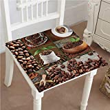 Best Garden-Outdoor Coffee Beans - Mikihome Chair Pads Squared Seat Brown Collage of Review